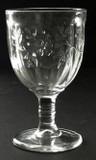 Paneled Apple Blossom EAPG Goblet
