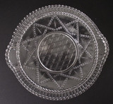 Reticulated Cord Pattern Glass Tray Plate