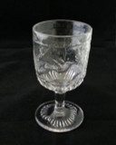 Hummingbird Crystal Glass Goblet EAPG