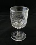 Hummingbird Crystal Glass Goblet EAPG