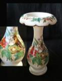 19th Century Opal Decorated Floriform Vase