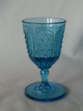 Fine Cut and Panel Blue EAPG Goblet