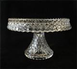 Virginian Pattern Pedestal Cake Stand Cambridge Glass