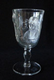 Actress Pattern Glass Goblet EAPG