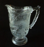 Frosted Fruits Pattern Glass Pitcher - Outstanding