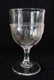 Owl in Fan - Parrot Pressed Glass Goblet #2