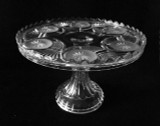 "Frosted Circle 10"" Antique Pedestal Cake Stand"