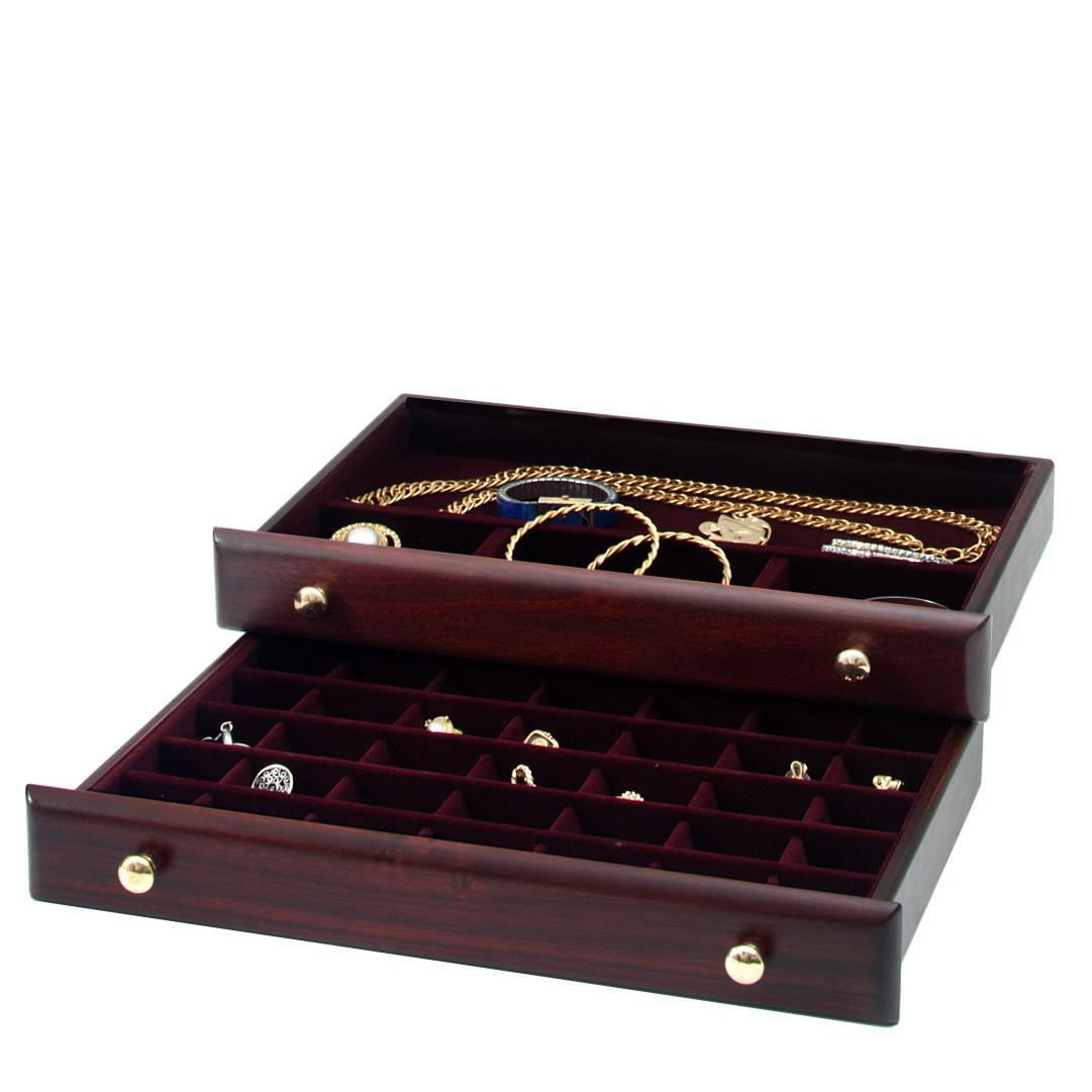 Handcrafted Mahogany Jewelry Box by Reed and Barton with