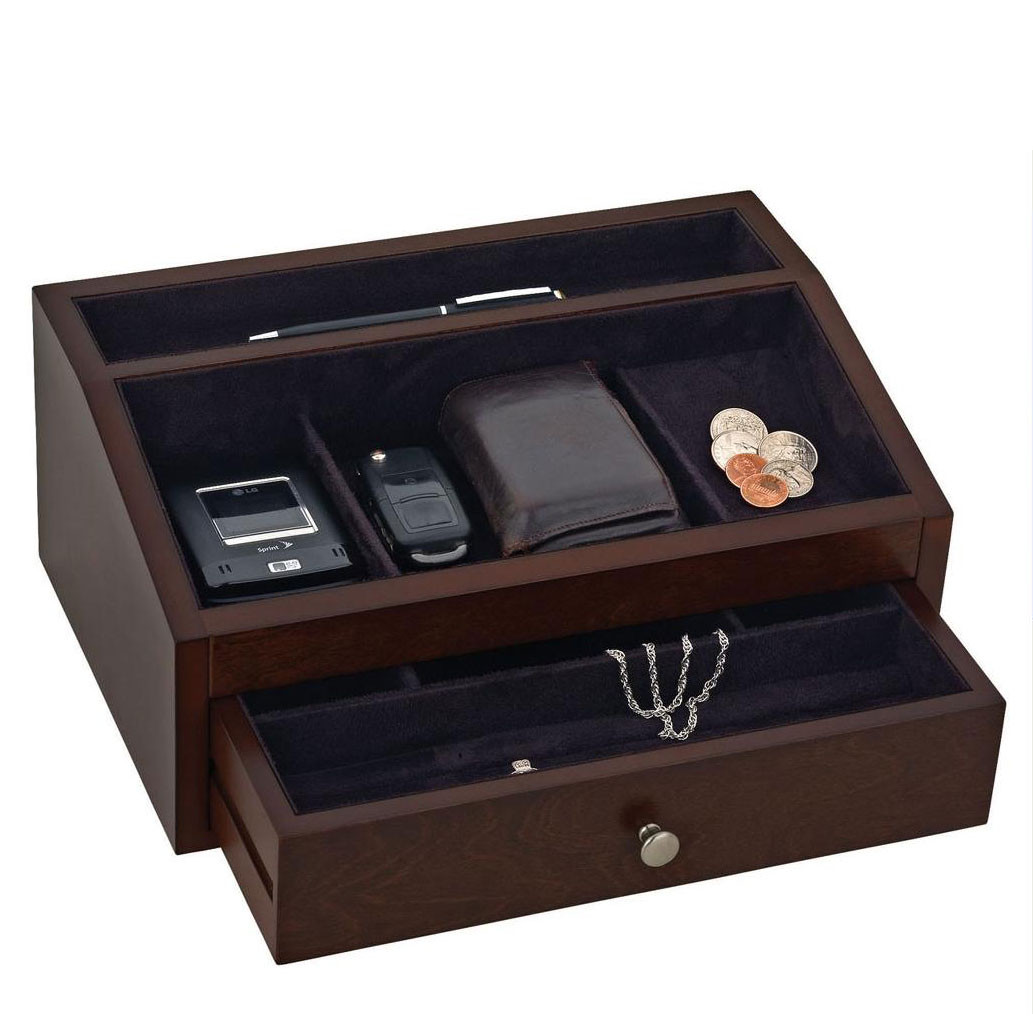 051347ca7 Men's Wooden Jewelry Box Valet - JewelryBoxShop.com