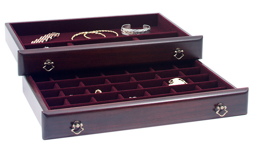 Handcrafted Personalized Mahogany Regal Jewelry Box by Reed and Barton