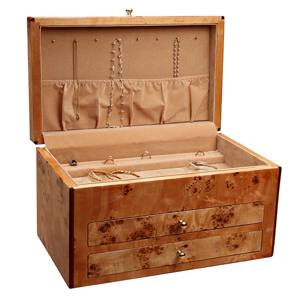 Maple Venner Jewelry Box by Reed and Barton