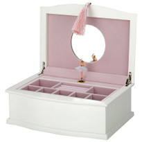 The interior is lined in a plush, soft pink velvet with mirror in cover.