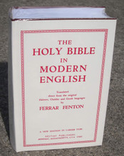 The Holy Bible In Modern English, by Ferrar Fenton, front cover.