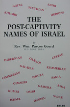 Post-captivity Names of Israel, by William Pascoe Goard