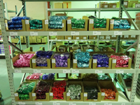 Lollies galore in our confectionery warehouse