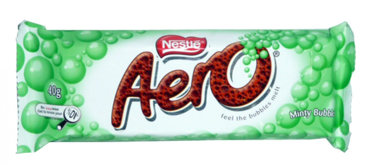 Aero Bar - Minty Bubbles, by Nestle,  and more Confectionery at The Professors Online Lolly Shop. (Image Number :2468)