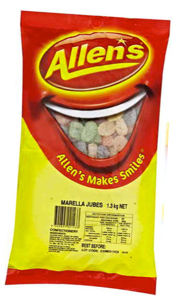 Allens Marella Jubes, by Allens Confectionery,  and more Confectionery at The Professors Online Lolly Shop. (Image Number :6225)