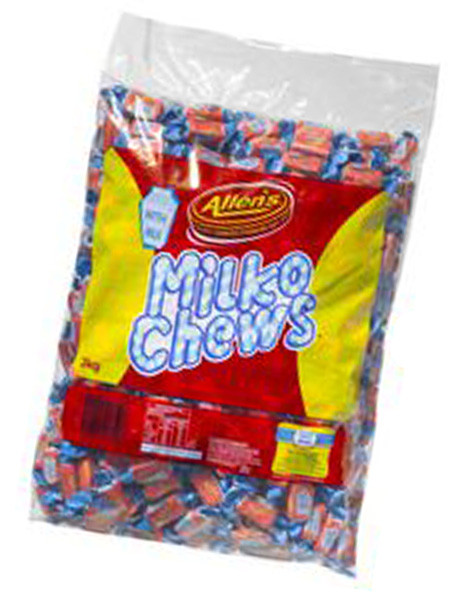 Allens Milko Chews, by Allens Confectionery,  and more Confectionery at The Professors Online Lolly Shop. (Image Number :6211)