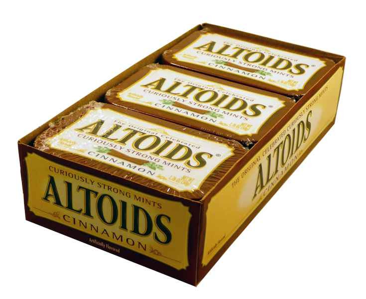 Altoids Cinnamon, by Altoids,  and more Confectionery at The Professors Online Lolly Shop. (Image Number :1911)