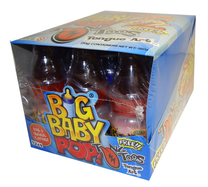 Big Baby Pop, by Myriad Marketing,  and more Confectionery at The Professors Online Lolly Shop. (Image Number :7226)
