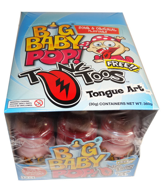 Big Baby Pop, by Myriad Marketing,  and more Confectionery at The Professors Online Lolly Shop. (Image Number :7227)
