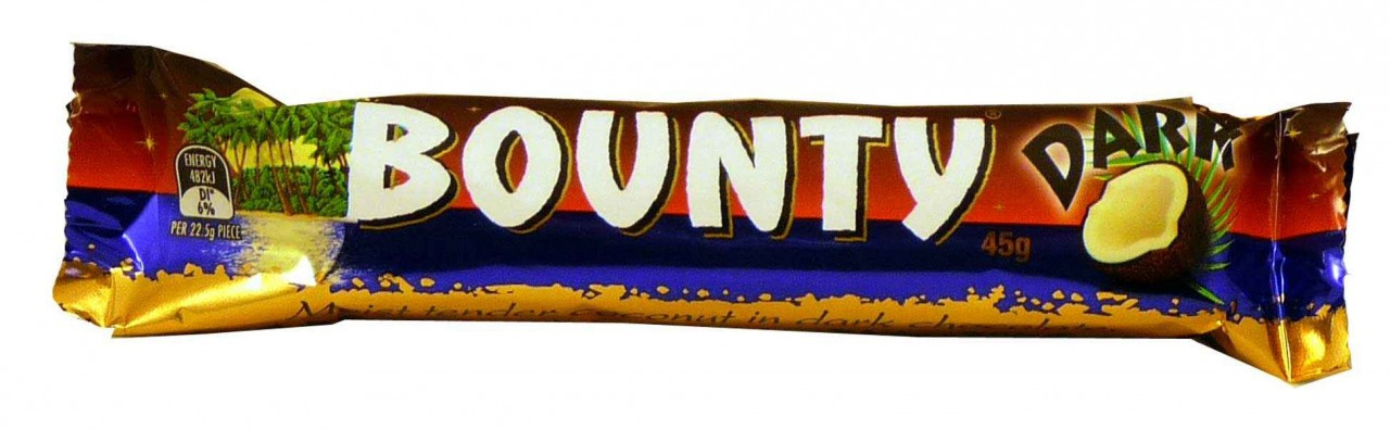 Bounty Bars Dark-Chocolate, by Cadbury,  and more Confectionery at The Professors Online Lolly Shop. (Image Number :1920)
