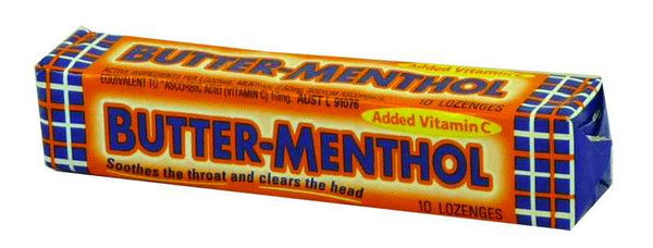 Butter Menthol - Original, by Nestle,  and more Confectionery at The Professors Online Lolly Shop. (Image Number :1924)