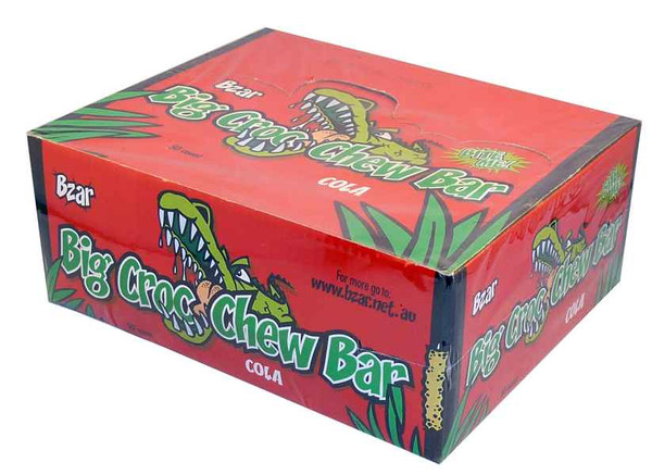 BZar Big Croc Chew Bars - Cola, by Candy Brokers,  and more Confectionery at The Professors Online Lolly Shop. (Image Number :1927)