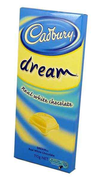 Cadbury Dream Block, by Cadbury,  and more Confectionery at The Professors Online Lolly Shop. (Image Number :1941)