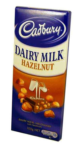 Cadbury Hazelnut Block, by Cadbury,  and more Confectionery at The Professors Online Lolly Shop. (Image Number :1945)