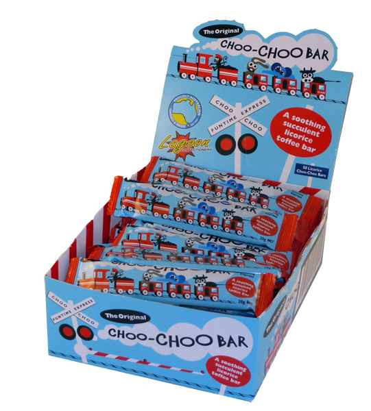 Choo-Choo Bars - licorice, by Lagoon Confectionery,  and more Confectionery at The Professors Online Lolly Shop. (Image Number :1960)