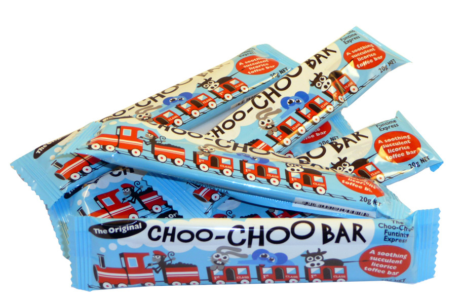 Choo-Choo Bars - licorice, by Lagoon Confectionery,  and more Confectionery at The Professors Online Lolly Shop. (Image Number :2239)