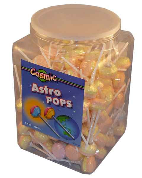 Cosmic Astro Pops, by AllFect Distributors,  and more Confectionery at The Professors Online Lolly Shop. (Image Number :1965)