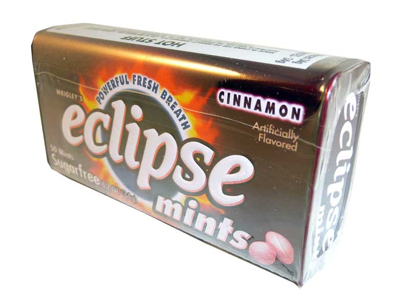 Eclipse Cinnamon Mints, by Wrigley,  and more Confectionery at The Professors Online Lolly Shop. (Image Number :2638)
