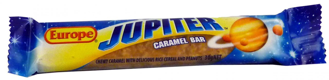 Europe Jupiter Caramel Bar, by Europe,  and more Confectionery at The Professors Online Lolly Shop. (Image Number :1972)
