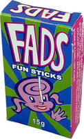 Fads Fun Sticks, by Fyna Foods,  and more Confectionery at The Professors Online Lolly Shop. (Image Number :1986)