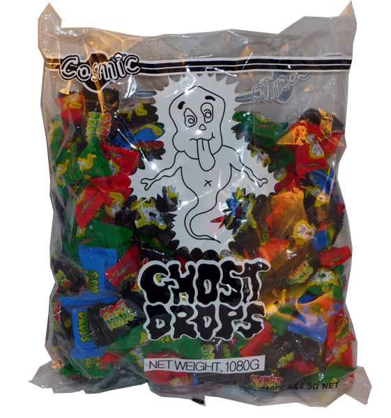 Ghost Drops, by AllFect Distributors,  and more Confectionery at The Professors Online Lolly Shop. (Image Number :2002)