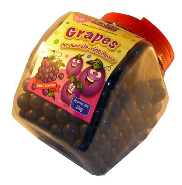 Grapes Bubble Gum, by FineTime,  and more Confectionery at The Professors Online Lolly Shop. (Image Number :2007)