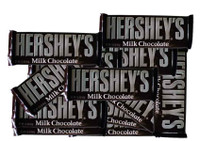 Hershey Milk Chocolate Bars - 12 x 43g Pack, by Hersheys,  and more Confectionery at The Professors Online Lolly Shop. (Image Number :2009)