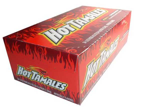 Hot Tamales, by Just Born,  and more Confectionery at The Professors Online Lolly Shop. (Image Number :6485)