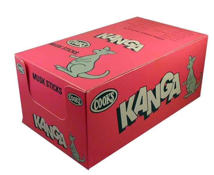 Kanga Musk Sticks, by Cooks Confectionery,  and more Confectionery at The Professors Online Lolly Shop. (Image Number :2034)