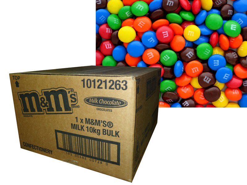 M&M Bulk, by Mars,  and more Confectionery at The Professors Online Lolly Shop. (Image Number :7152)