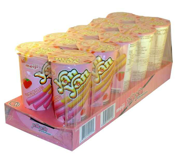 Meiji YanYan Strawberry and more Snack Foods at The Professors Online Lolly Shop. (Image Number :2063)
