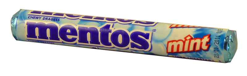 Mentos - Mint, by Perfetti Van Melle,  and more Confectionery at The Professors Online Lolly Shop. (Image Number :2066)