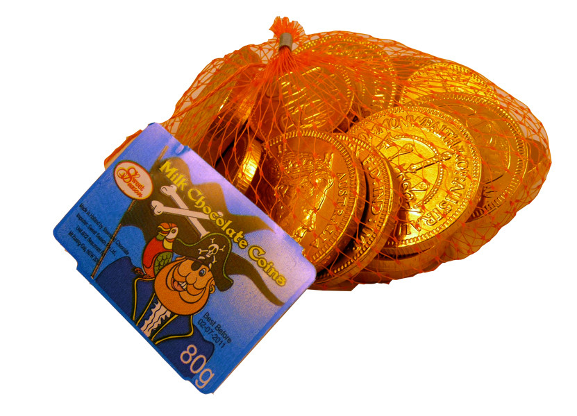 Milk Chocolate Coins, by Sweet Season,  and more Confectionery at The Professors Online Lolly Shop. (Image Number :2255)