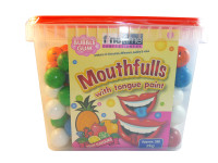 Mouthfulls Bubble Gum, by FineTime,  and more Confectionery at The Professors Online Lolly Shop. (Image Number :3200)