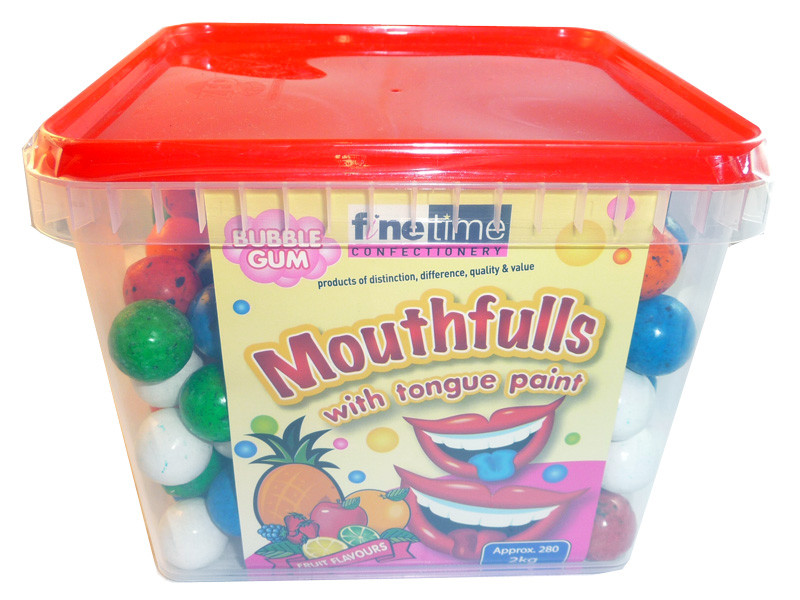 Mouthfulls Bubble Gum, by FineTime,  and more Confectionery at The Professors Online Lolly Shop. (Image Number :3386)