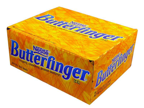 Nestle Butterfinger Bars, by Nestle,  and more Confectionery at The Professors Online Lolly Shop. (Image Number :2082)