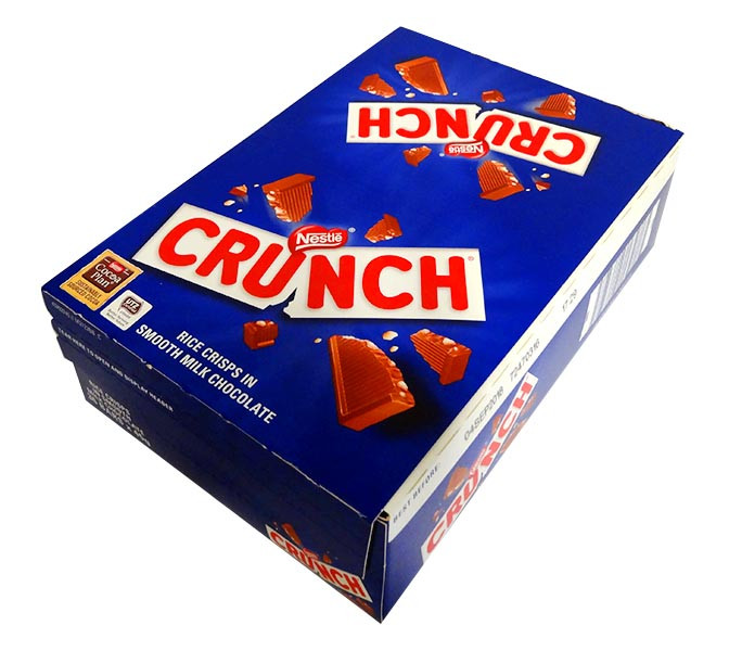 Nestle Crunch, by Nestle,  and more Confectionery at The Professors Online Lolly Shop. (Image Number :10811)