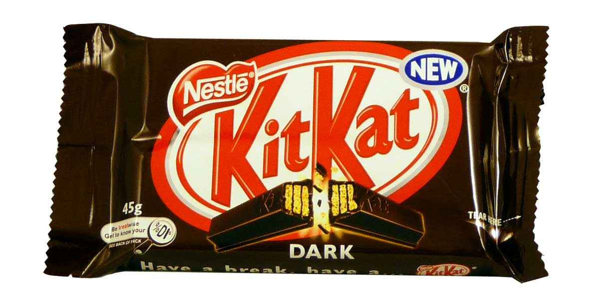 Nestle Kit Kat Dark, by Nestle,  and more Confectionery at The Professors Online Lolly Shop. (Image Number :2086)